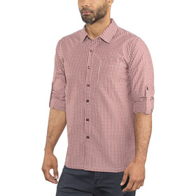 Meru Vallejo Functioneel Shirt Lange Mouwen Heren, burnt red
